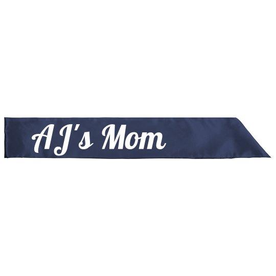 LaLa's baby shower sash