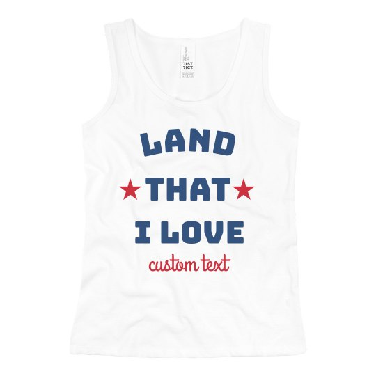 Land That I Love USA Girl's Tank