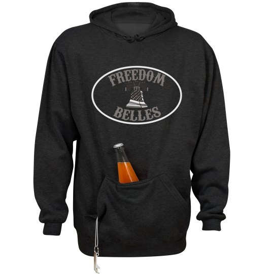 large front belles support hoodie