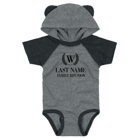 Last Name Custom Hooded Bodysuit