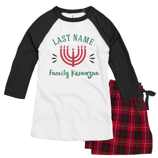 Last Name Custom Kwanzaa Pajamas