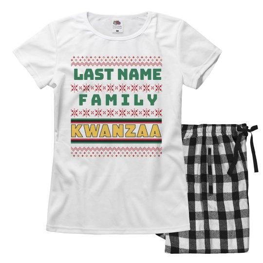 Last Name Womens Kwanzaa Pajamas