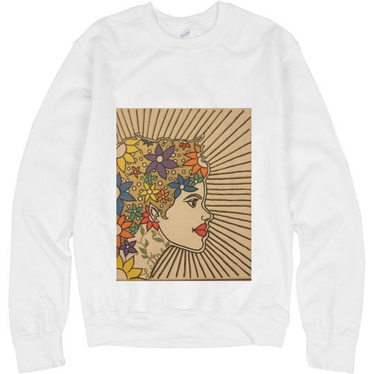 Latina Crewneck Sweatshirt- Jazzy Art