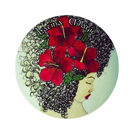 Latina Magic Button- Jazzy Art