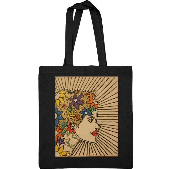 Latina Tote Bag-Jazzy Art