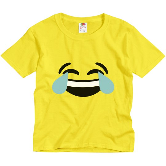 Laugh Emoji Kids Halloween Costume
