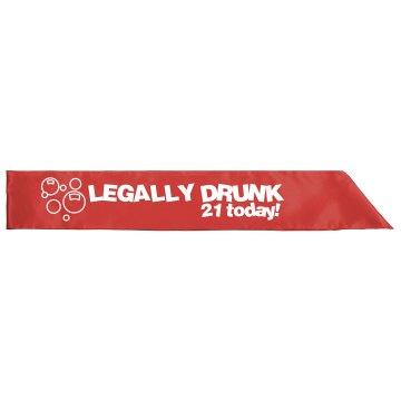 Legally Drunk Sash