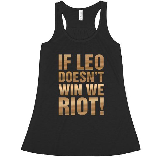 Leo Text in Oscar Gold