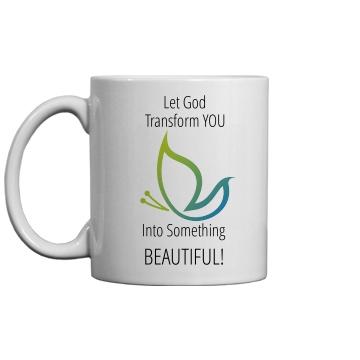 LET GOD Transform You Blue/Green Mug