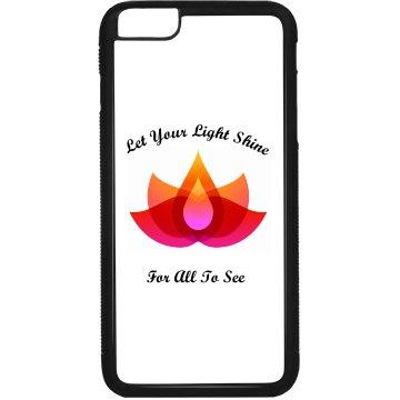 Let Your Light Shine Rubber iPhone 6 Plus Case Black