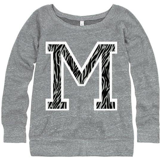Letter Sweater M Zebra