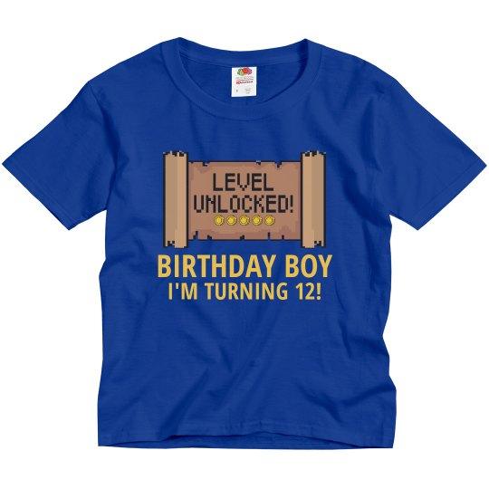 Level Unlocked Birthday Tee
