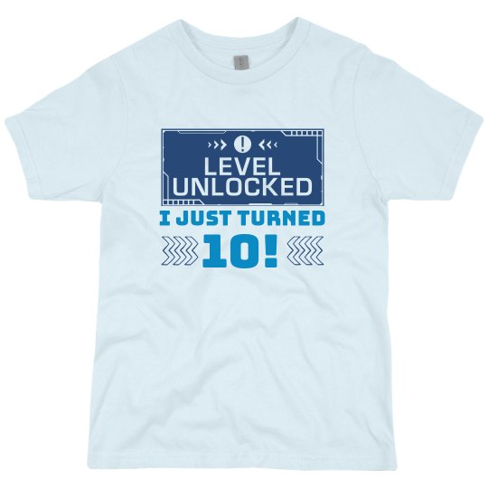 Level Unlocked Pop-Up Birthday Tee