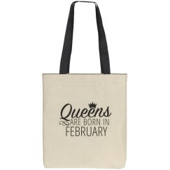 Queens Are Born In February Gift Bag