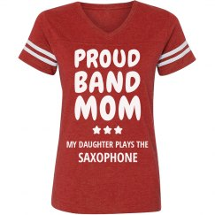 Proud Saxophone Band Mom