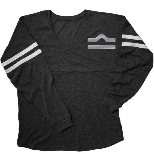 Libra Zodiac Sporty Ladies Long Sleeve