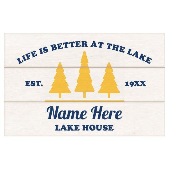 Life At The Lake Wall Board