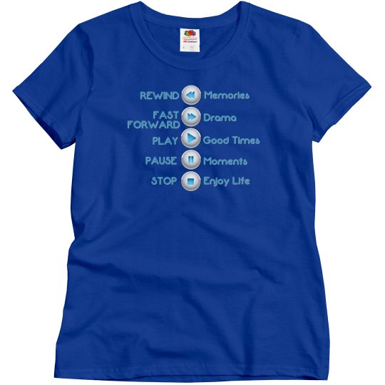 Life Control Buttons Tee