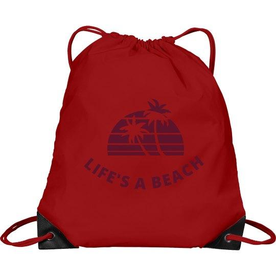 Life's a Beach Cinch Sak