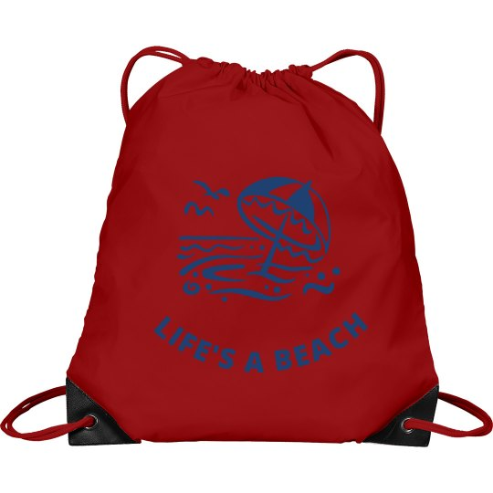 Life's a Beach Cinch Sak2