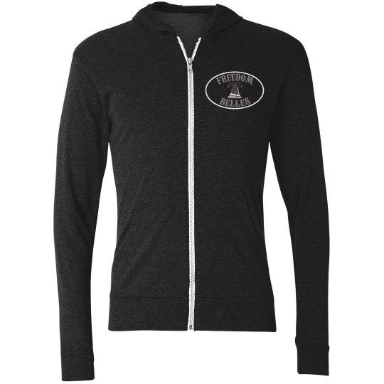 Light weight belles zip up hoodie