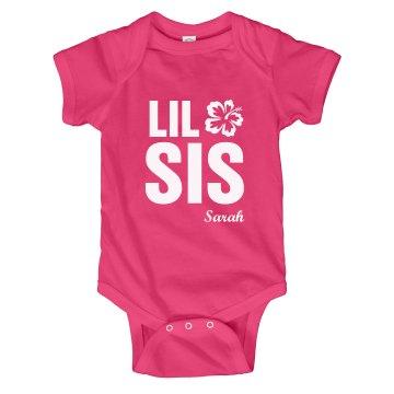 Lil Sis Flower Onesie