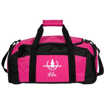 Lila. Gymnastics bag