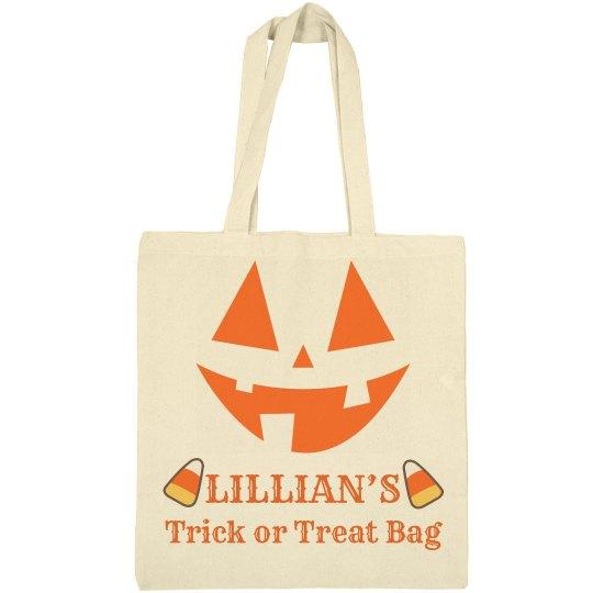 Lillian's trick or treat bag