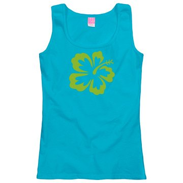 Lime flower tank top