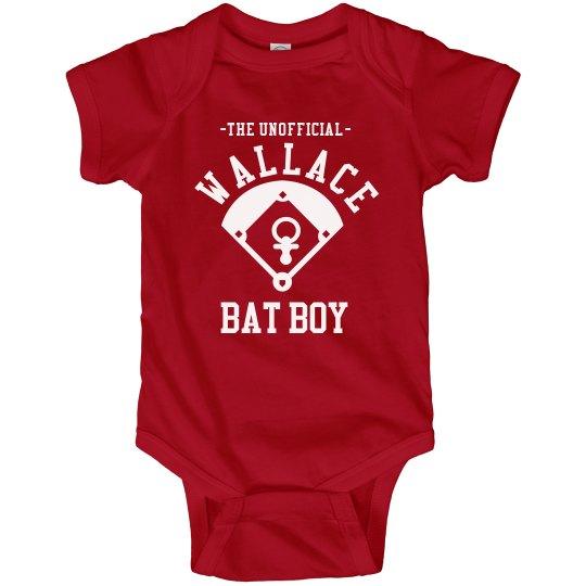 Little Baseball Bat Boy Onesie With Custom Back
