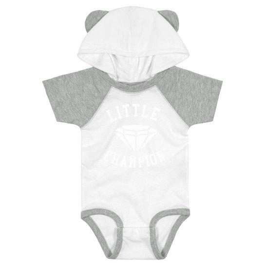 Little Champion Infant hooded onesie