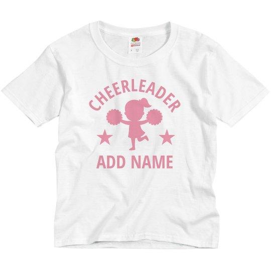 Little Girl Cheerleader Custom Name