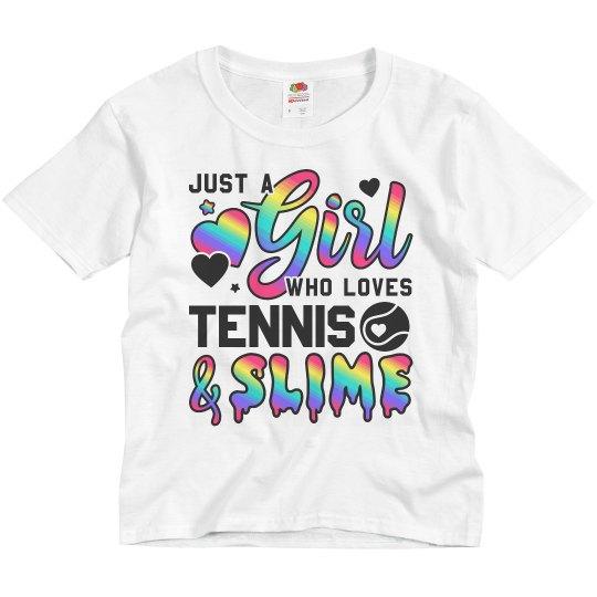 Little Girls Love Tennis & Slime