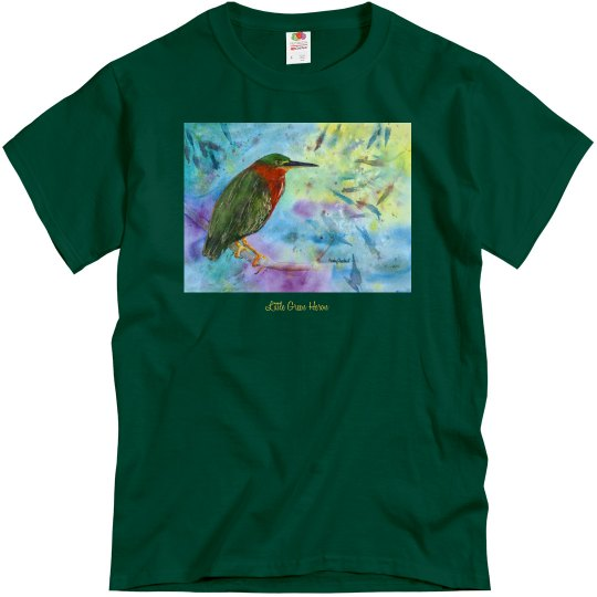 Little Green Heron front/back