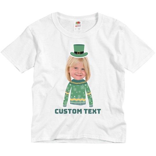 Little Leprechaun Custom Upload Tee