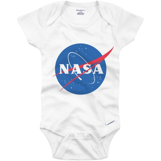 Little NASA Space Baby Logo