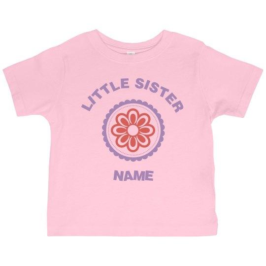 Little Sister Flower with Custom Name