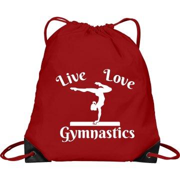 Live love Gymnastics bag