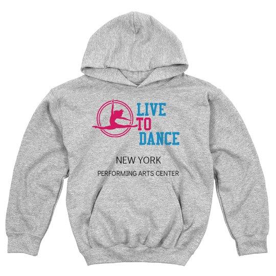 LIVE TO DANCE GREY HOODIE KIDS
