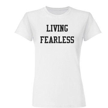 Living Fearless (Junior) Jersey Tee