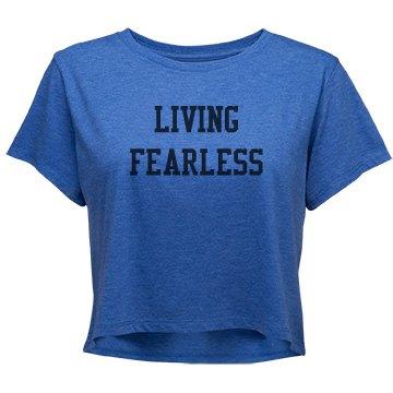 Living Fearless (Junior) Relaxed Crop Tee