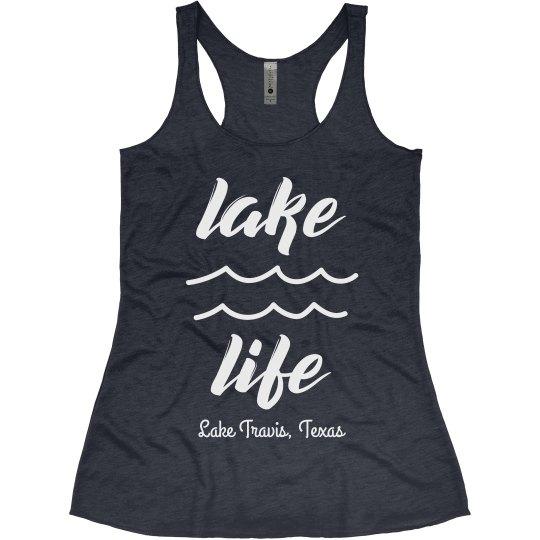 Living that Lake Life Custom Summer Vacation Tank
