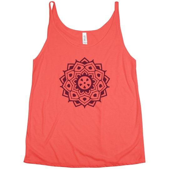 Long Henna Circle Design