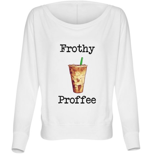 Long sleeved frothy profee off the shoulder