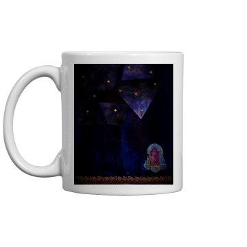 Look up at the stars mug