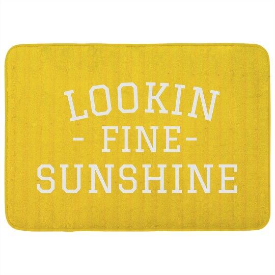 Lookin' Fine Sunshine Bath Mat