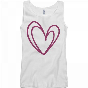Lopsided Heart Tank