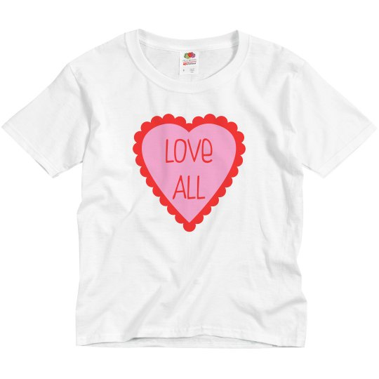 Love All Youth Valentines Day Shirt
