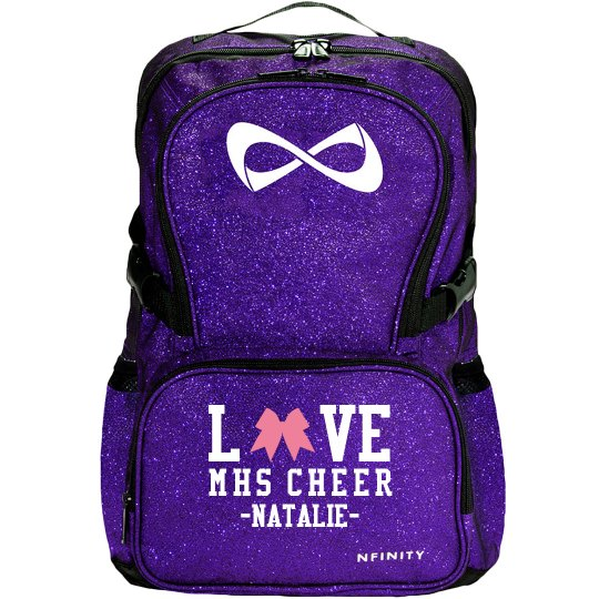 Love Cheer Bows High School Nfinity Cheerleader Bag