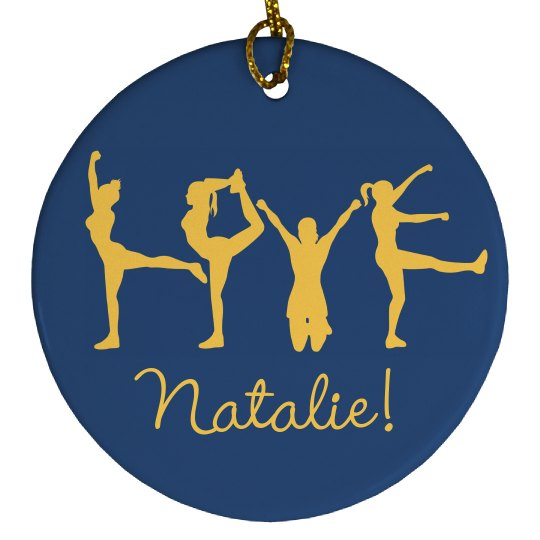 Love Cheer Pose Cheerleading Ornament Gift